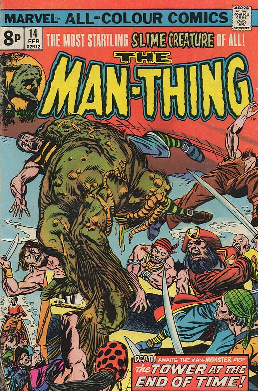 Cover of Man-Thing (Vol 1) #14. One of 250,000 Vintage American Comics on sale from Krypton!