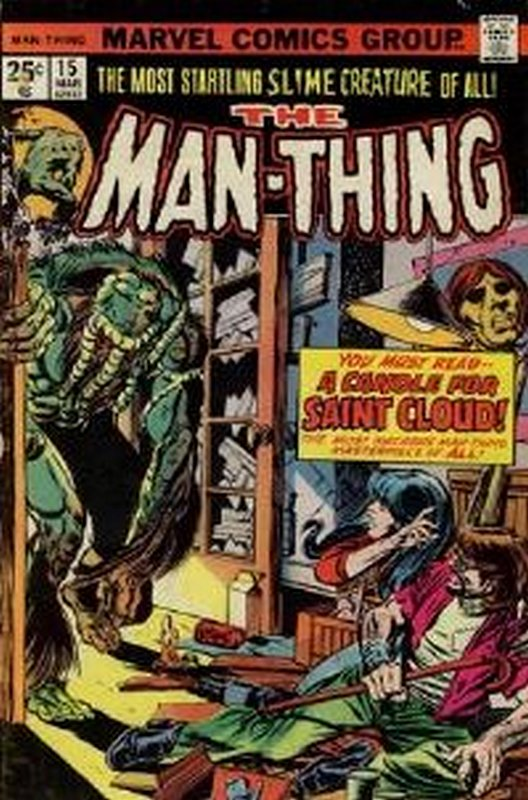 Cover of Man-Thing (Vol 1) #15. One of 250,000 Vintage American Comics on sale from Krypton!
