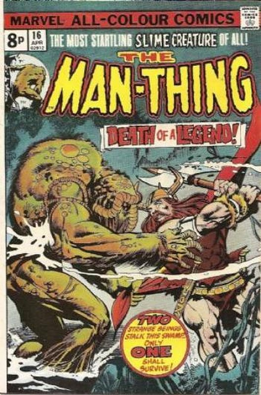 Cover of Man-Thing (Vol 1) #16. One of 250,000 Vintage American Comics on sale from Krypton!