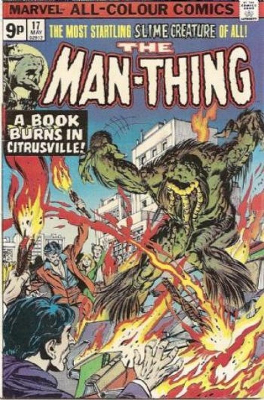 Cover of Man-Thing (Vol 1) #17. One of 250,000 Vintage American Comics on sale from Krypton!