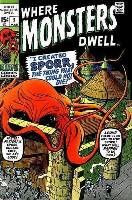 Cover of Where Monsters Dwell (Vol 1) #2. One of 250,000 Vintage American Comics on sale from Krypton!