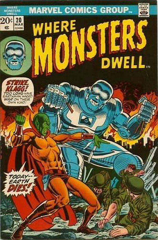Cover of Where Monsters Dwell (Vol 1) #20. One of 250,000 Vintage American Comics on sale from Krypton!