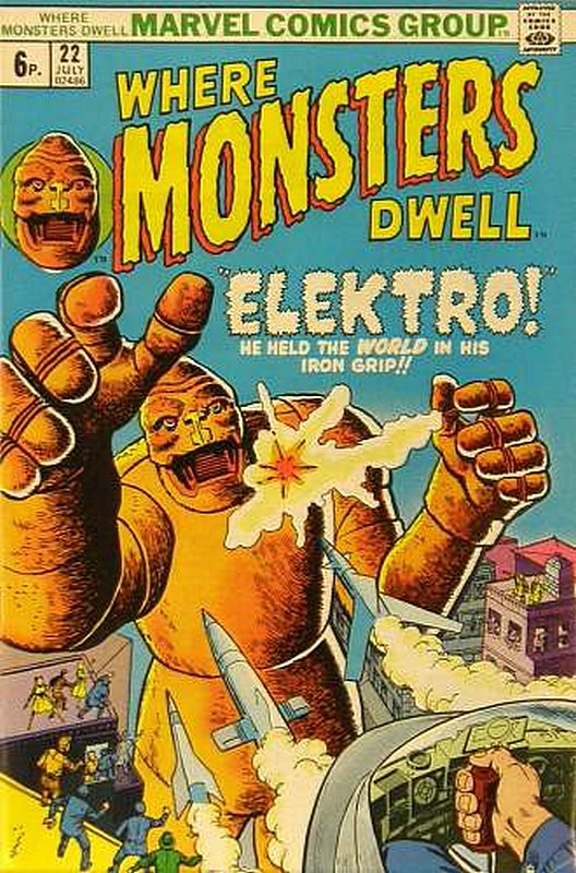 Cover of Where Monsters Dwell (Vol 1) #22. One of 250,000 Vintage American Comics on sale from Krypton!