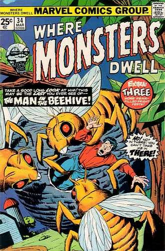 Cover of Where Monsters Dwell (Vol 1) #34. One of 250,000 Vintage American Comics on sale from Krypton!
