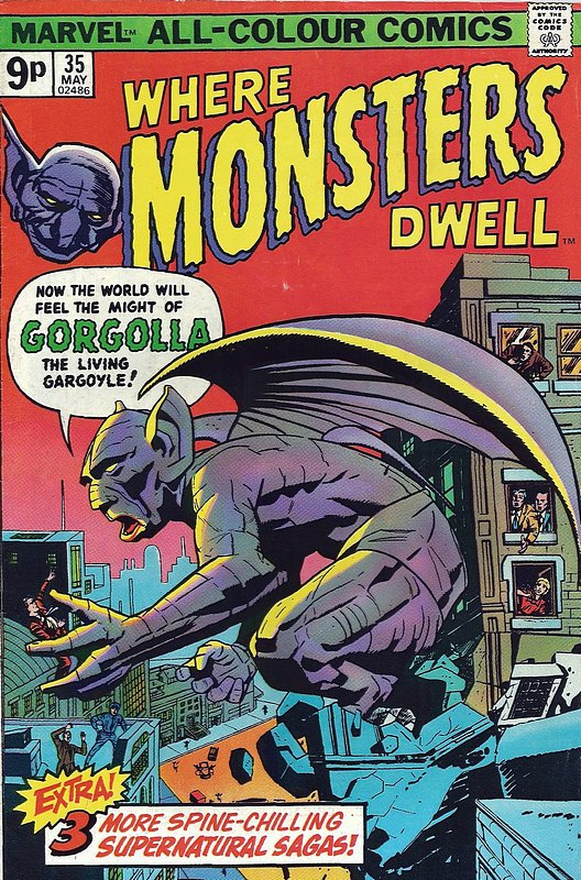 Cover of Where Monsters Dwell (Vol 1) #35. One of 250,000 Vintage American Comics on sale from Krypton!