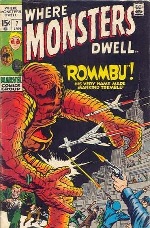 Cover of Where Monsters Dwell (Vol 1) #7. One of 250,000 Vintage American Comics on sale from Krypton!