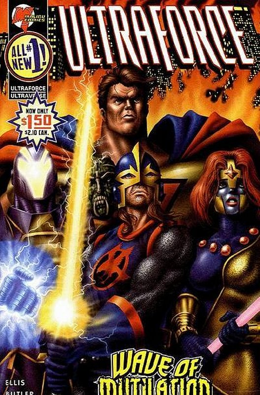 Cover of Ultraforce (Vol 2) #1. One of 250,000 Vintage American Comics on sale from Krypton!