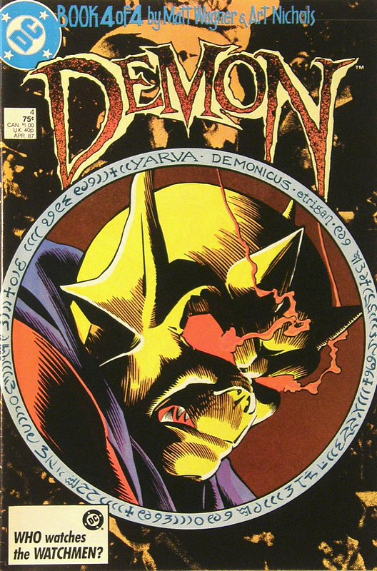 Cover of Demon (1987 Ltd Series) #4. One of 250,000 Vintage American Comics on sale from Krypton!