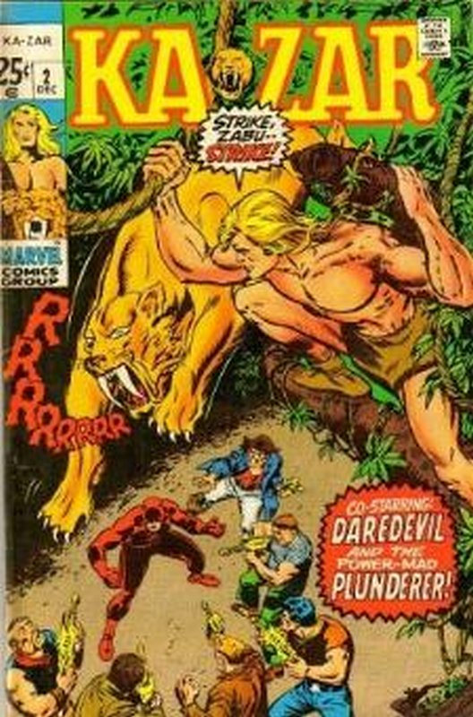Cover of Ka-zar  (Vol 1) #2. One of 250,000 Vintage American Comics on sale from Krypton!