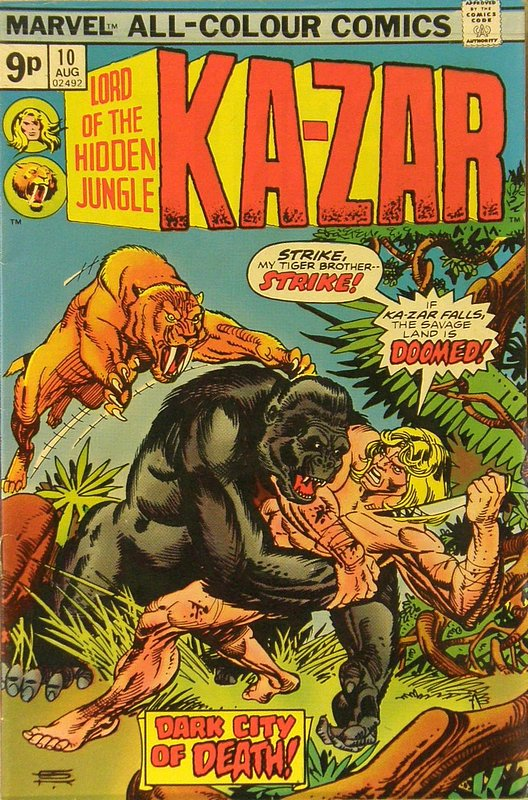 Cover of Ka-Zar (Vol 2), Lord of the Hidden Jungle #10. One of 250,000 Vintage American Comics on sale from Krypton!