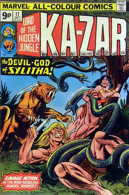 Cover of Ka-Zar (Vol 2), Lord of the Hidden Jungle #11. One of 250,000 Vintage American Comics on sale from Krypton!