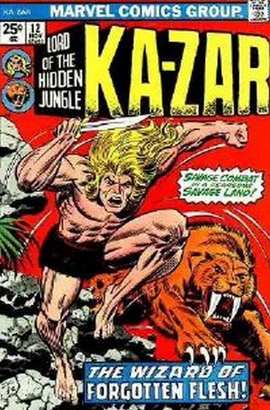 Cover of Ka-Zar (Vol 2), Lord of the Hidden Jungle #12. One of 250,000 Vintage American Comics on sale from Krypton!