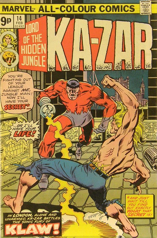 Cover of Ka-Zar (Vol 2), Lord of the Hidden Jungle #14. One of 250,000 Vintage American Comics on sale from Krypton!
