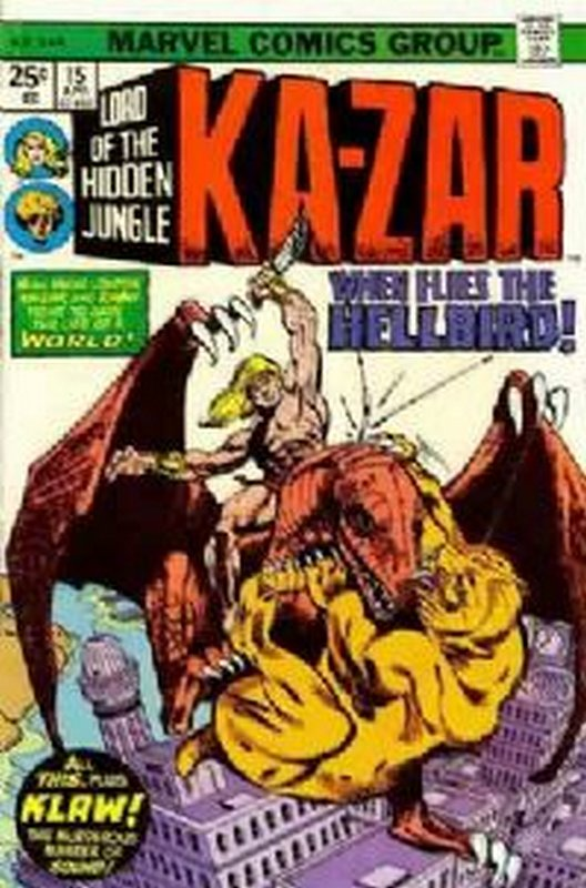 Cover of Ka-Zar (Vol 2), Lord of the Hidden Jungle #15. One of 250,000 Vintage American Comics on sale from Krypton!