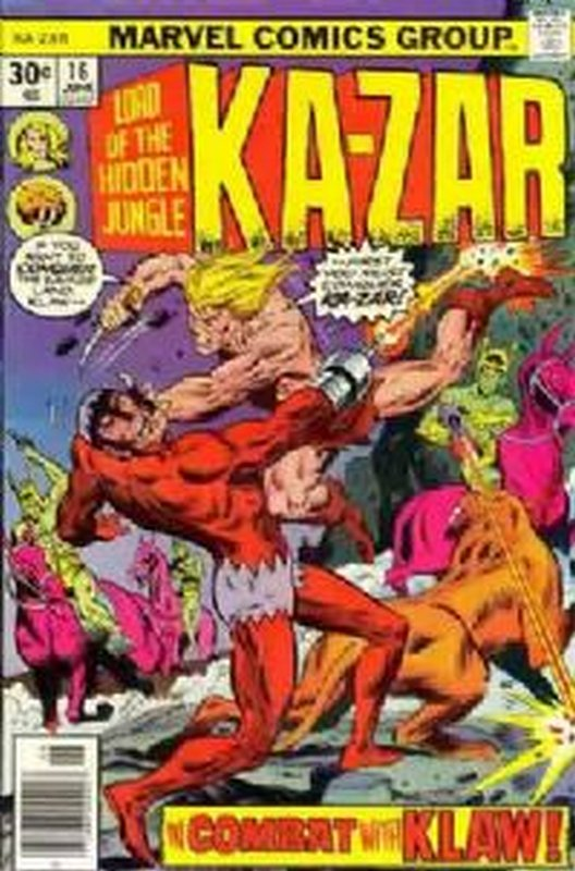 Cover of Ka-Zar (Vol 2), Lord of the Hidden Jungle #16. One of 250,000 Vintage American Comics on sale from Krypton!