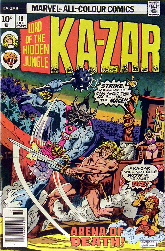Cover of Ka-Zar (Vol 2), Lord of the Hidden Jungle #18. One of 250,000 Vintage American Comics on sale from Krypton!