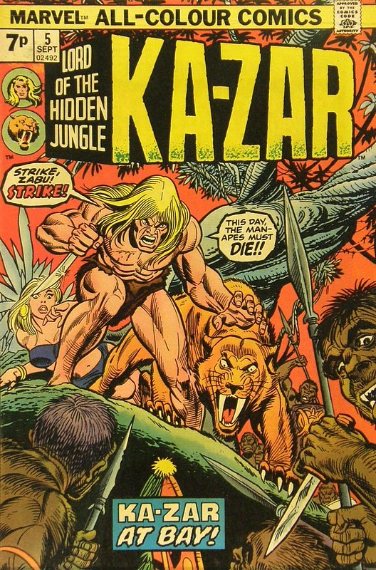 Cover of Ka-Zar (Vol 2), Lord of the Hidden Jungle #5. One of 250,000 Vintage American Comics on sale from Krypton!
