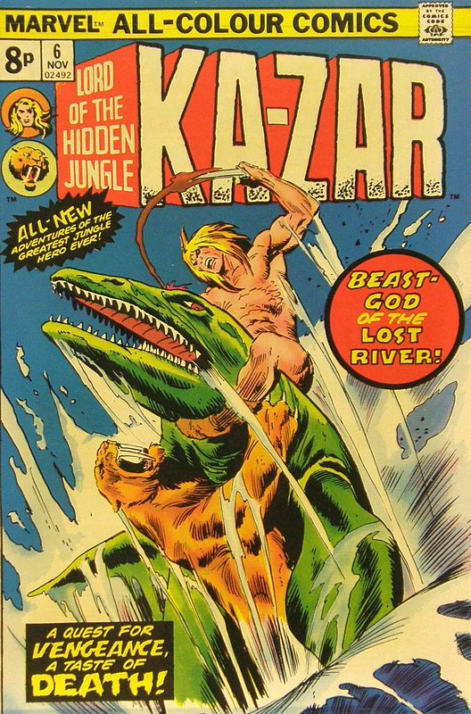Cover of Ka-Zar (Vol 2), Lord of the Hidden Jungle #6. One of 250,000 Vintage American Comics on sale from Krypton!