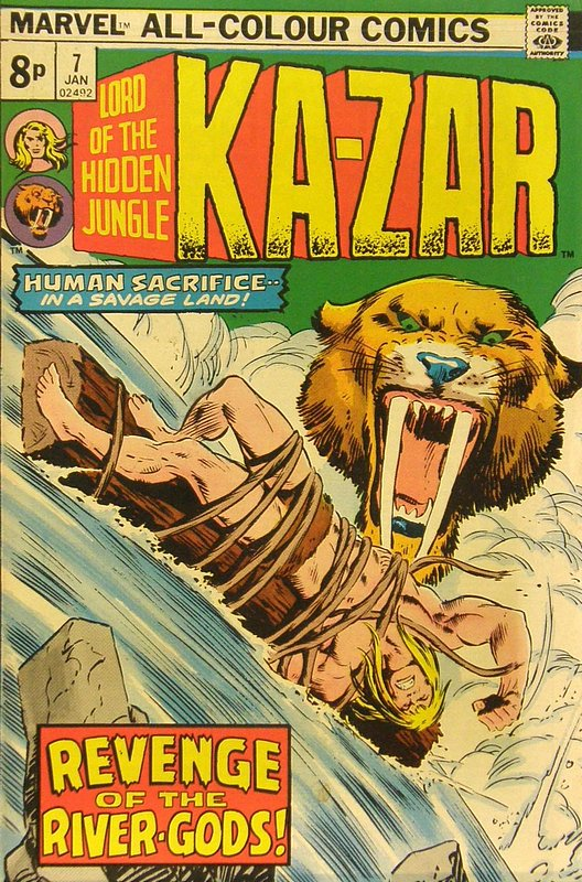 Cover of Ka-Zar (Vol 2), Lord of the Hidden Jungle #7. One of 250,000 Vintage American Comics on sale from Krypton!