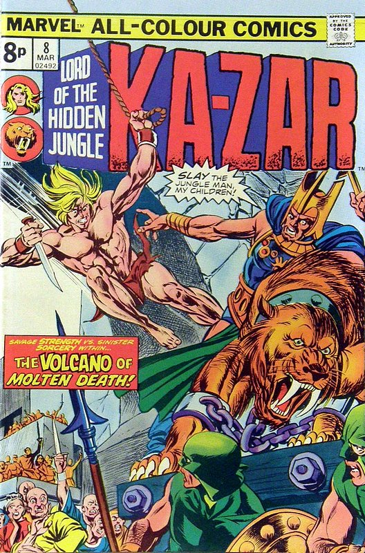 Cover of Ka-Zar (Vol 2), Lord of the Hidden Jungle #8. One of 250,000 Vintage American Comics on sale from Krypton!