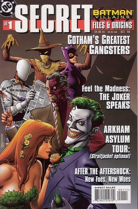 Cover of Batman Villains Secret Files (1998 One Shot) #1. One of 250,000 Vintage American Comics on sale from Krypton!