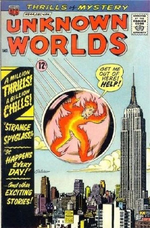 Cover of Unknown Worlds (Vol 1) #44. One of 250,000 Vintage American Comics on sale from Krypton!