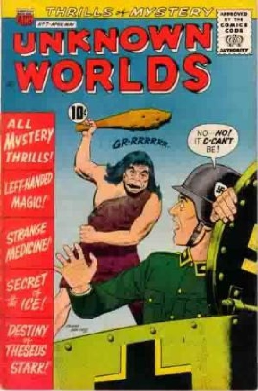 Cover of Unknown Worlds (Vol 1) #7. One of 250,000 Vintage American Comics on sale from Krypton!