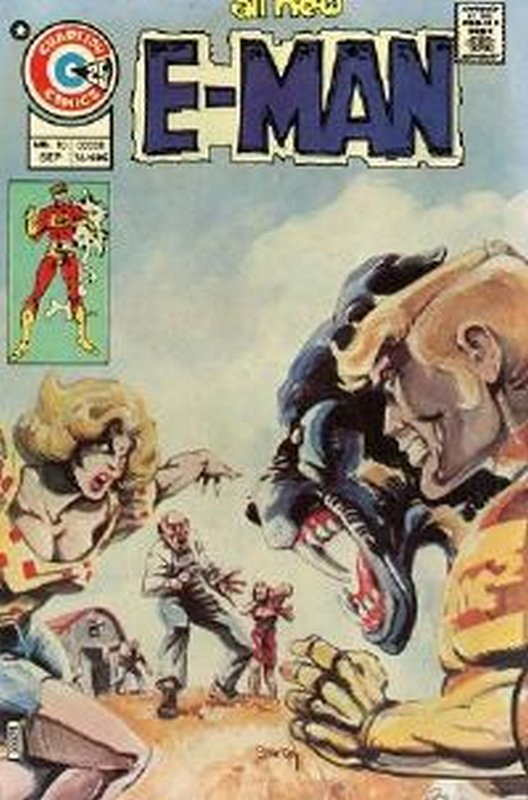 Cover of E-Man (Vol 1) #10. One of 250,000 Vintage American Comics on sale from Krypton!