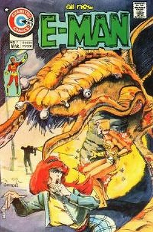 Cover of E-Man (Vol 1) #7. One of 250,000 Vintage American Comics on sale from Krypton!