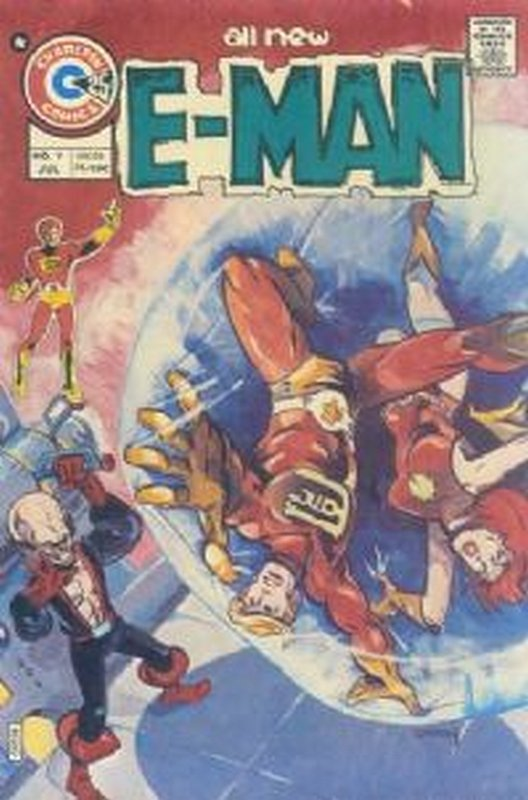 Cover of E-Man (Vol 1) #9. One of 250,000 Vintage American Comics on sale from Krypton!