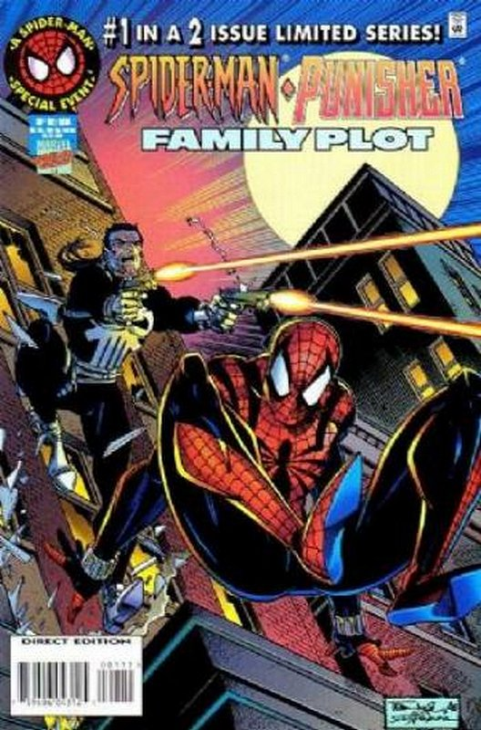 Cover of Spider-Man/Punisher: Family Plot #1. One of 250,000 Vintage American Comics on sale from Krypton!