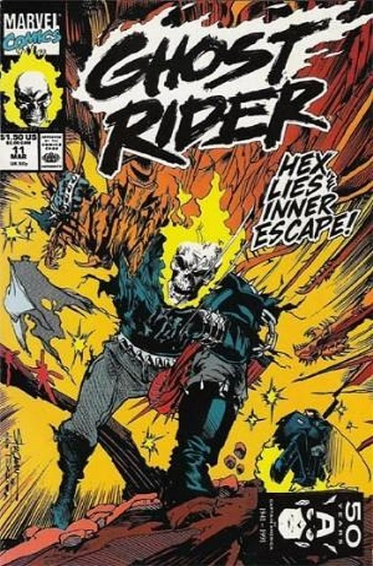 Cover of Ghost Rider (Vol 2) #11. One of 250,000 Vintage American Comics on sale from Krypton!