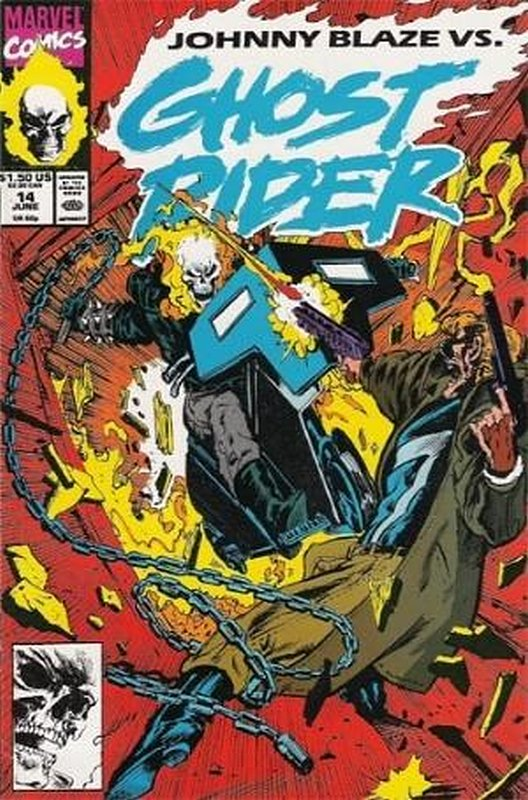 Cover of Ghost Rider (Vol 2) #14. One of 250,000 Vintage American Comics on sale from Krypton!