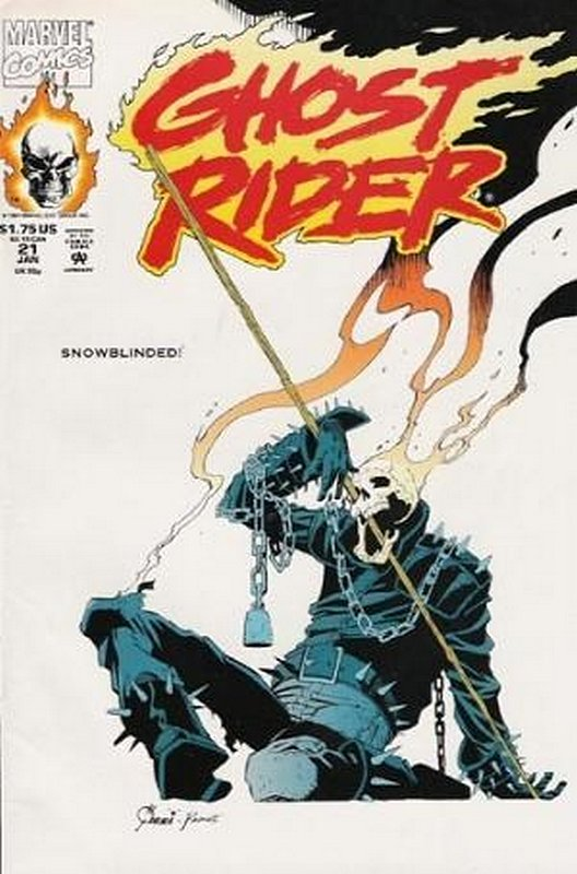Cover of Ghost Rider (Vol 2) #21. One of 250,000 Vintage American Comics on sale from Krypton!