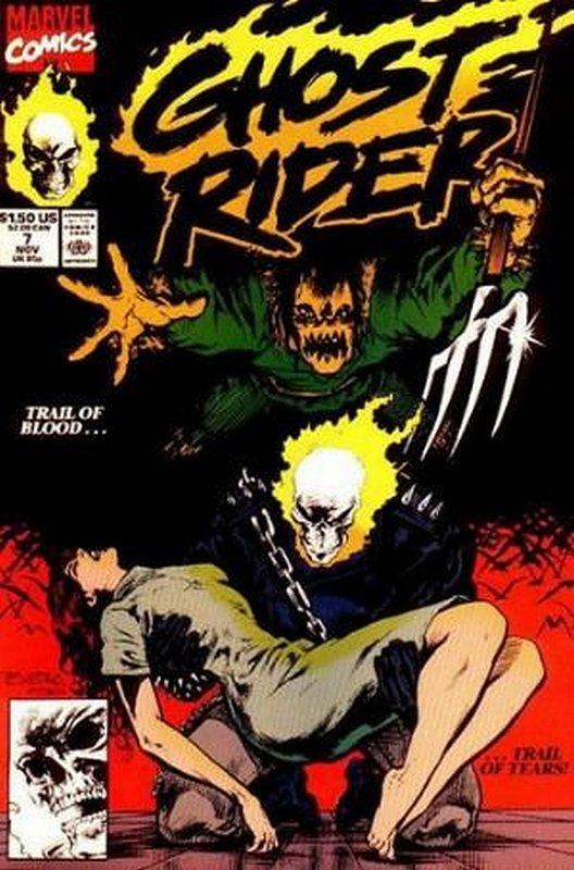 Cover of Ghost Rider (Vol 2) #7. One of 250,000 Vintage American Comics on sale from Krypton!