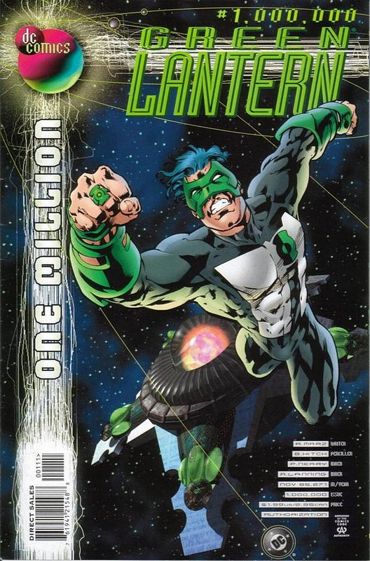 Cover of Green Lantern One Million #1. One of 250,000 Vintage American Comics on sale from Krypton!