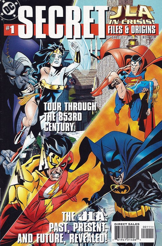 Cover of JLA in Crisis Secret Files (1998 One Shot) #1. One of 250,000 Vintage American Comics on sale from Krypton!