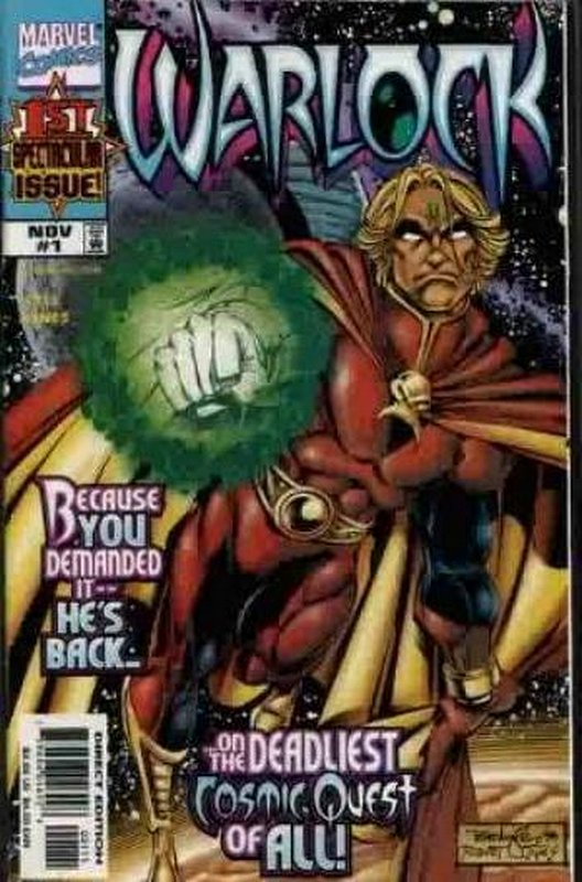 Cover of Warlock (1998 Ltd) #1. One of 250,000 Vintage American Comics on sale from Krypton!