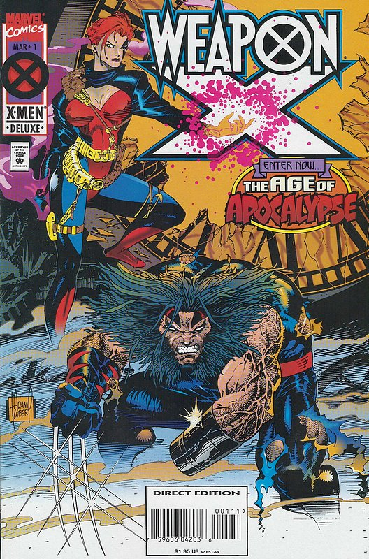 Cover of Weapon X (1995 Ltd) #1. One of 250,000 Vintage American Comics on sale from Krypton!