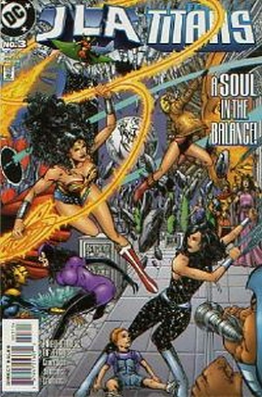 Cover of JLA/Titans (1998 Ltd) #3. One of 250,000 Vintage American Comics on sale from Krypton!