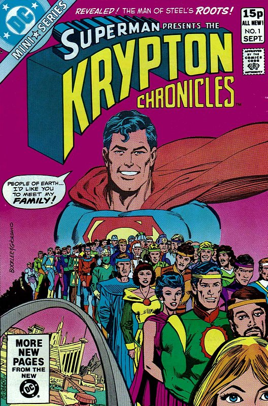Cover of Krypton Chronicles (1981 Ltd) #1. One of 250,000 Vintage American Comics on sale from Krypton!