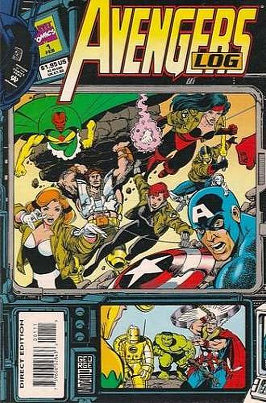 Cover of Avengers Log (1994 One Shot) #1. One of 250,000 Vintage American Comics on sale from Krypton!