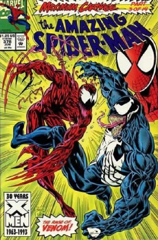 Cover of Amazing Spider-Man (Vol 1) #378. One of 250,000 Vintage American Comics on sale from Krypton!