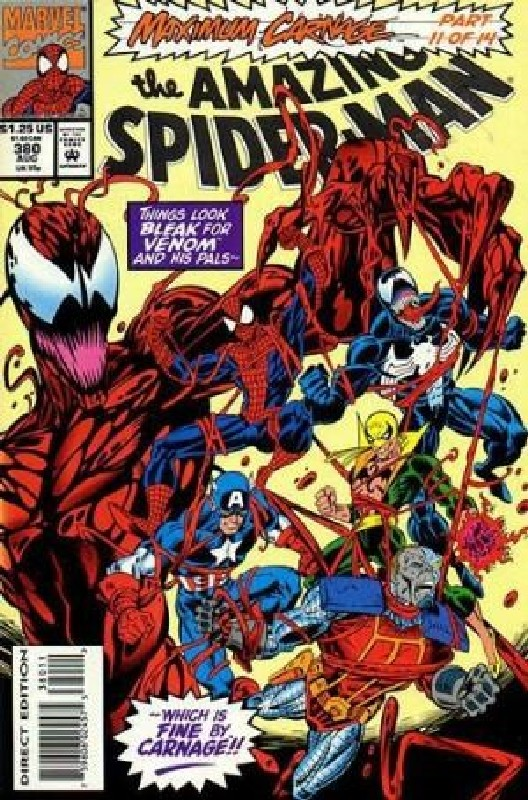 Cover of Amazing Spider-Man (Vol 1) #380. One of 250,000 Vintage American Comics on sale from Krypton!