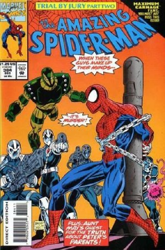 Cover of Amazing Spider-Man (Vol 1) #384. One of 250,000 Vintage American Comics on sale from Krypton!