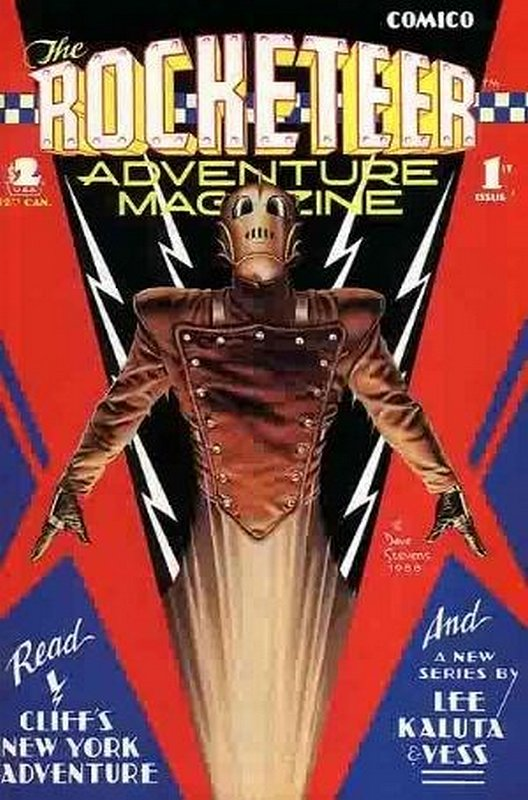 Cover of Rocketeer Adventure Magazine (1988 Ltd) #1. One of 250,000 Vintage American Comics on sale from Krypton!