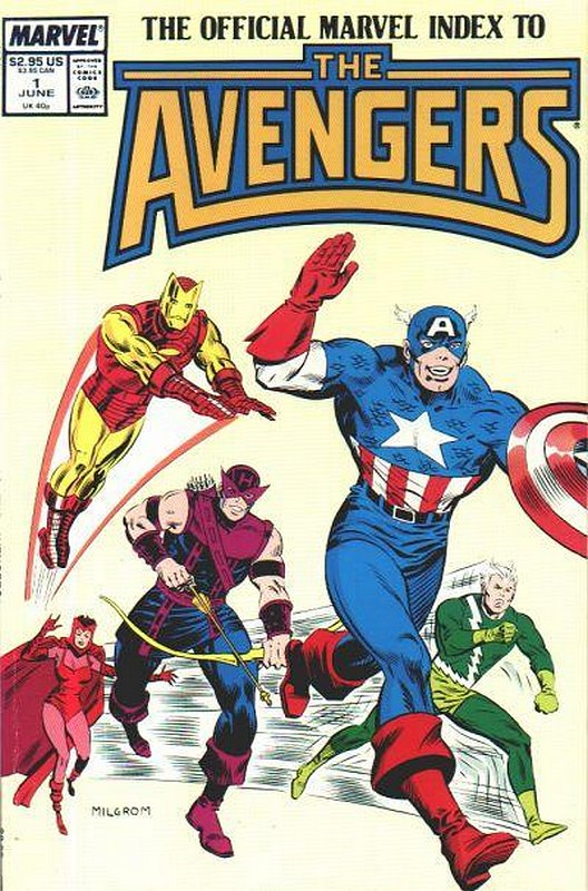 Cover of Avengers: Official Marvel Index (Vol 1) #1. One of 250,000 Vintage American Comics on sale from Krypton!