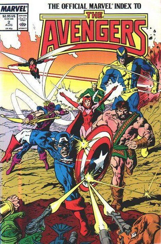 Cover of Avengers: Official Marvel Index (Vol 1) #2. One of 250,000 Vintage American Comics on sale from Krypton!