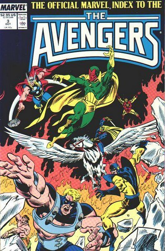 Cover of Avengers: Official Marvel Index (Vol 1) #3. One of 250,000 Vintage American Comics on sale from Krypton!