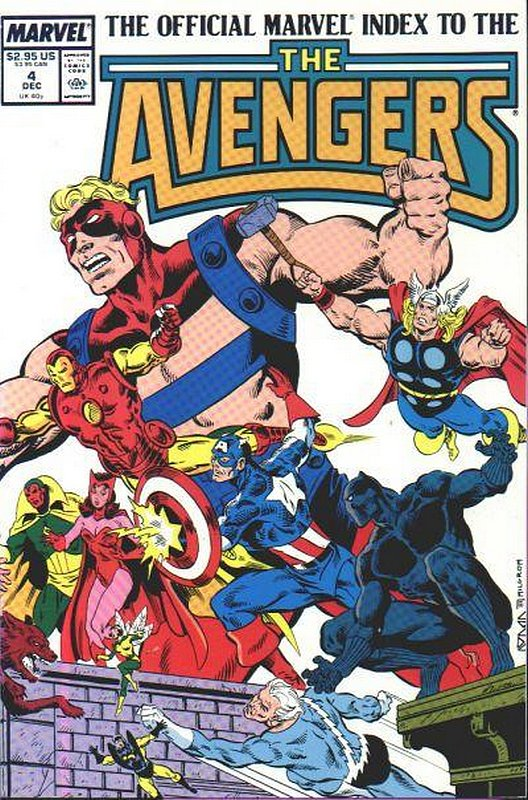 Cover of Avengers: Official Marvel Index (Vol 1) #4. One of 250,000 Vintage American Comics on sale from Krypton!